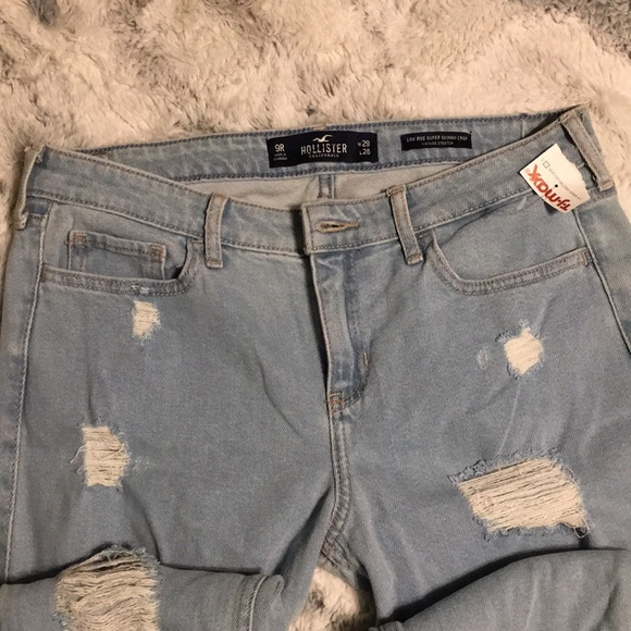 Hollister Denim - Hollister 29X26 low rise skinny crop Capri